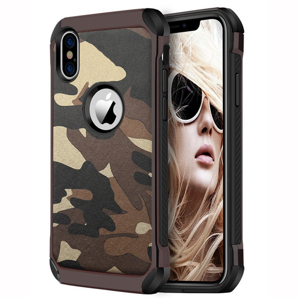New Caes for iPhoneX Mobile Shell 6.1 Inch Drop Camouflage Silicone Case for iPhone XS Plus 6.5 Inchv