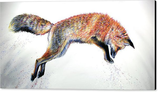 Leap's Fox Art Prints Beautiful Wall Art Elegant Style Unframed Deco House or Office Hot Selling Top Home Decoration