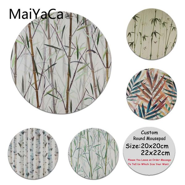 MaiYaCa Boy Gift Pad New Bamboo Forest alfombrilla de ratón gamer play tapetes Round Mouse PC Computer Mat