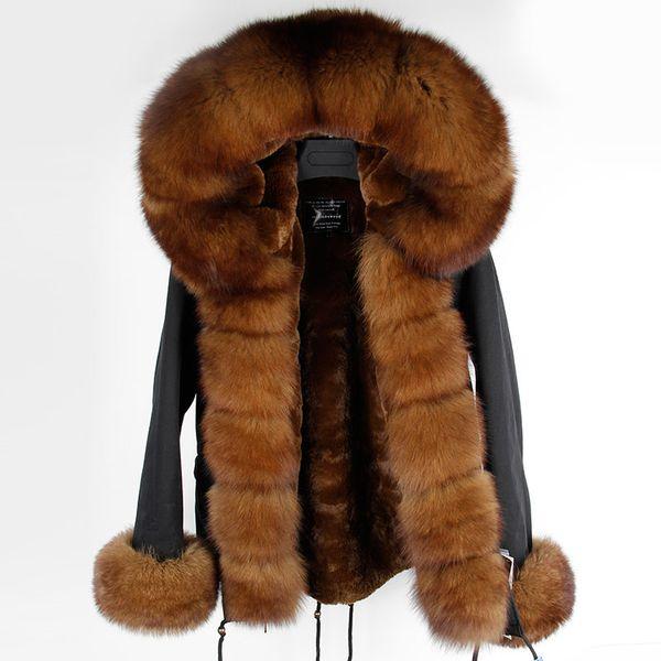 2018 Winter Jacket Women Coat Short Parka Natural Real Fox Fur Collar Hood Thick Outerwear Brand Casual Parkas Detachable Liner