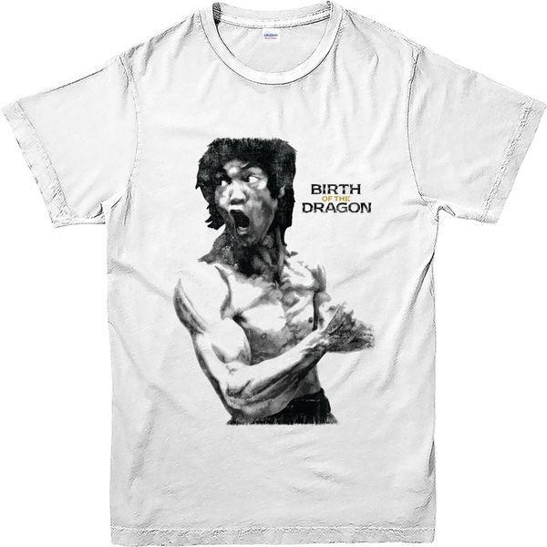2018 горячие продажи супер мода мода 2016 Брюс Ли футболка Рождение Дракона O-образным вырезом с коротким рукавом футболки для мужчин
