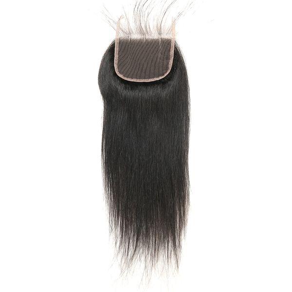 Cierre recto peruano del cordón del pelo humano de la Virgen 4x4 Pieza libre parte media del cordón del pelo humano de la parte tres Parte