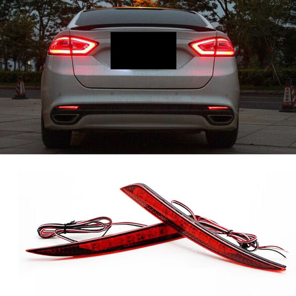 2019 2xfor Ford Fusion 2013 15 Car Auto Tail Light Red Lens Led Rear Warn Fog Lamp Reflector From Hobo068 30 15 Dhgate Com