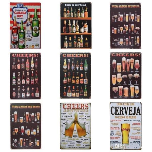 Bouteille de bière Cheer Design Tin Poster Tins Sign Bouteille De Vin Fer Peinture Pour Bar Et Night Club Atmosphère Exagérée ff