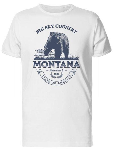 Big Sky Country Montana 1889 Men's Tee -Image by ShutterstockFunny Бесплатная доставка Unisex Casual tee gift