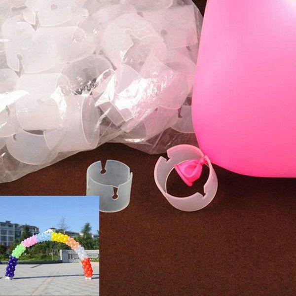 50pcs/lot Balloon Clip Buckle Plastic Balloon Bracket Connector Ring Buckle Balloon Arch Wedding Birthday Party Supplies