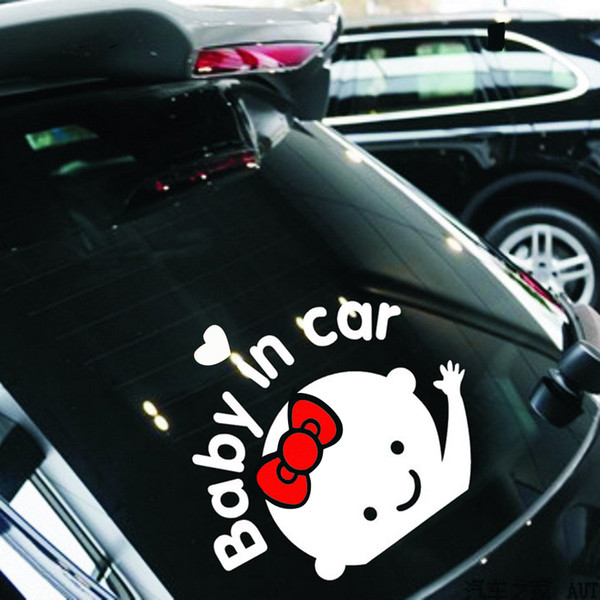 best selling Boy Girl 16CM*13CM Decoration Silver On Rear Windshield Reflective Car Styling Auto Motorcycle Sticker Baby in Car Car Stickers and Decals