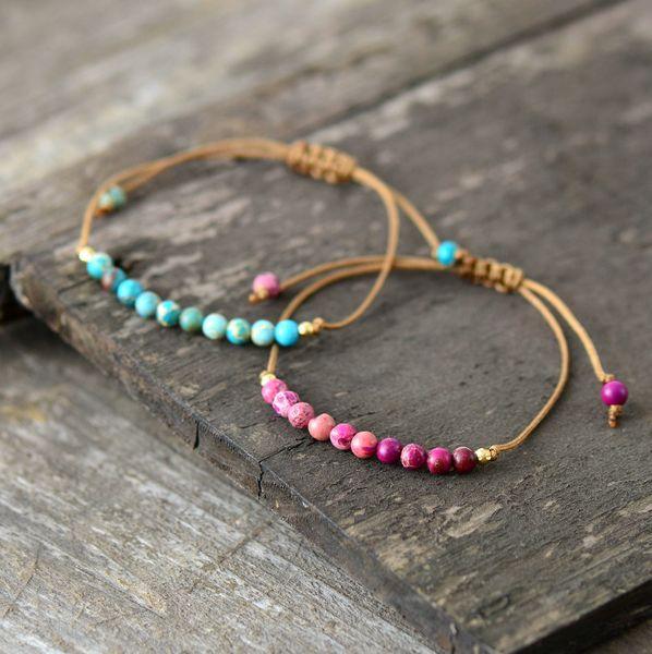 Boho Bracelet Unique Natural Stone Simple String Bracelet Friendship Bead Strand Birthday Gift Dropshipping Jewelry