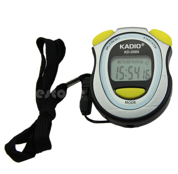 New Handheld Digital LCD Sports Stopwatch Counter Timer Chronograph -Y122