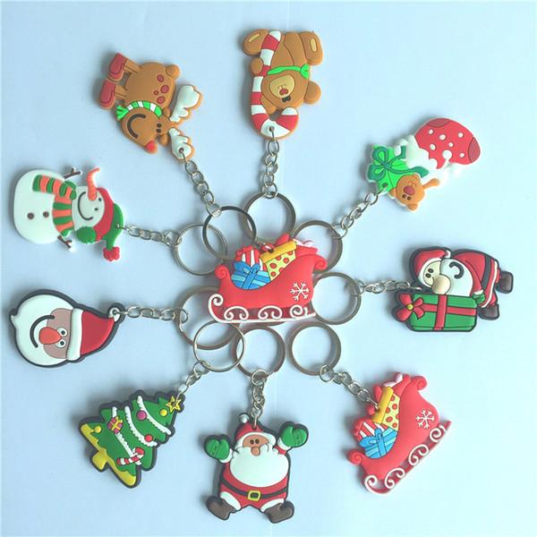 Acheter Cadeau De Noël Noël Porte Clés Bonhomme De Neige Père Noël Porte Clés De Noël Pour Enfants Cadeau Dessin Animé Pendentif Cadeau Créatif 9