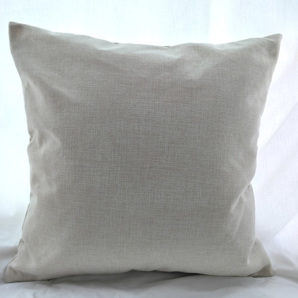16x16 inche natural poly linen pillow ca e blank for diy ublimation plain burlap cu hion cover embroidery blank directly from factory