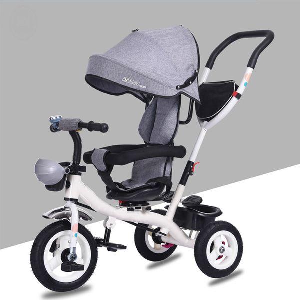 Passeggino genuino un pulsante per ruotare il guidatore del triciclo per bambini 1-3 passeggino per bambino di 4 anni