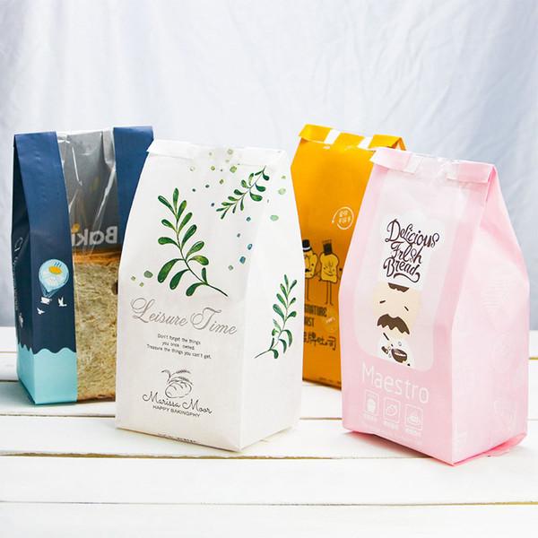 50 STÜCKE Kreative Kraftpapierbeutel Toast Brot Verpackung Taschen Süßigkeiten Cookie Kekse Brot Nüsse Snack Bag Backpaket Geschenk Taschen