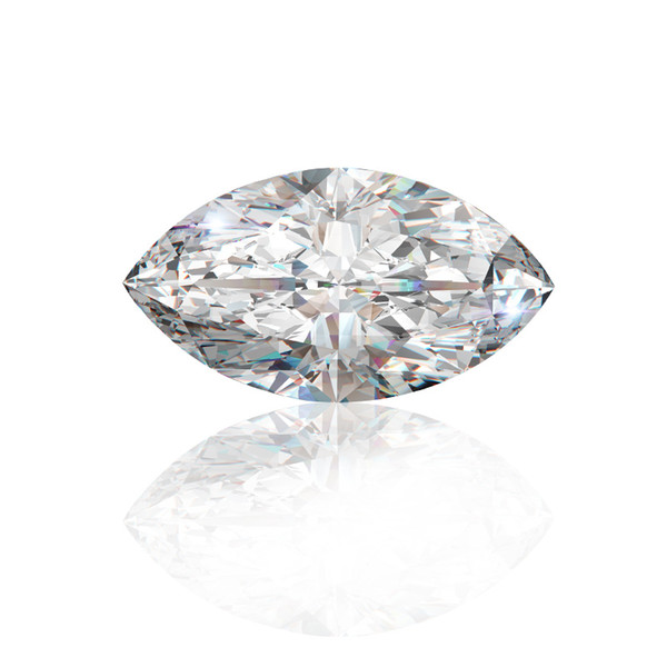 0.1Ct~3.0Ct(2*4MM~7*14MM) Marquise Cut With Certificate D/F Color VVS Clarity Lab Diamond Moissanite Stone 3EX Cut Loose Diamond For Setting