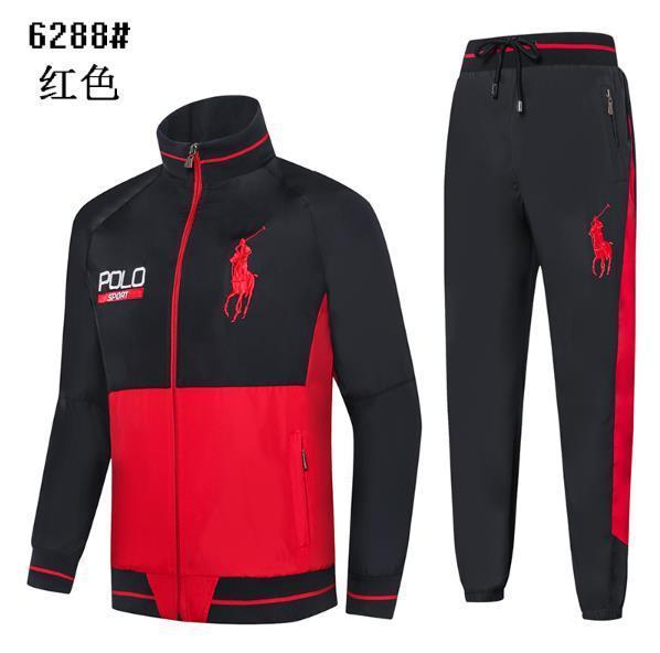 polo Men s Sports Suit Spring and Autumn New Leisure Men s Decoration Body 3 Colour Size M-2XLcm 6288-3 Sports Suit