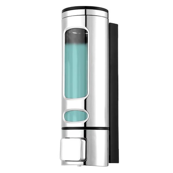 400ml Wall Mount Single Head Hand Touch Soap Shampoo Dispenser Bathroom Kitchen Portable Liquid Hand Shampoo Soap Dispenser Free Shipping VB