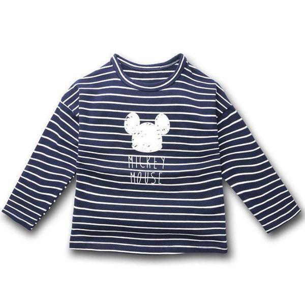 Tee-shirts pour enfants pour filles Vêtements Tee-shirt en coton à rayures T-shirt à manches longues