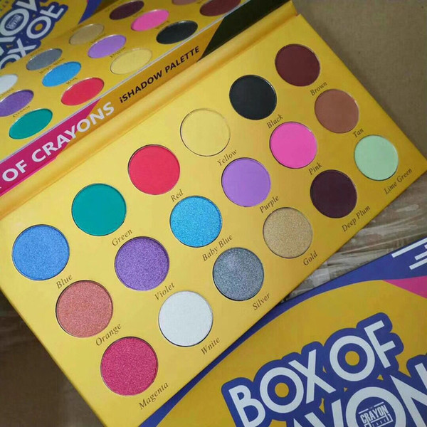 New makeup palettebox of crayon co metic eye hadow palette 18 color i hadow palette himmer matte eye beauty dhl hipping