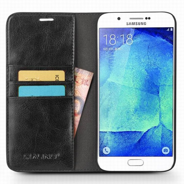 Vintage leather ca e for am ung galaxy a8 flip cover ultra lim ca e for galaxy a8
