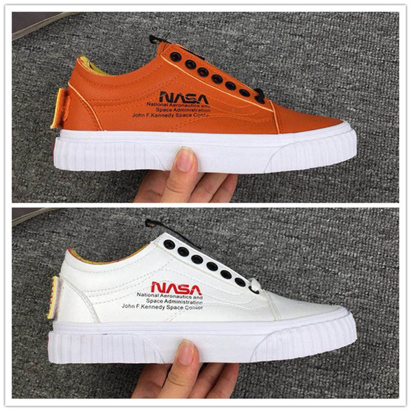 latest style new items buy popular 2019 NASA X Van Old Skool Casual Shoes Fashion Designer Shoe Shuttle Men  Women Skateboard Sneaker White Brown Orange Outdoor Trainers From  Ajsneaker2, ...
