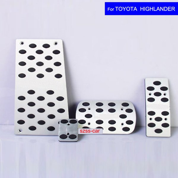 Car Aluminium Alloy Petrol Fuel Brake Braking Pad Foot Pedals Rest Plate for Toyota Highlander 2012 2013 2014 2015 2016 2017