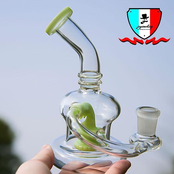 Percha de vidrio banger con 5 colores 14mm junta femenina Mini equipo de perlas de agua Equipos de vidrio de borosilicato