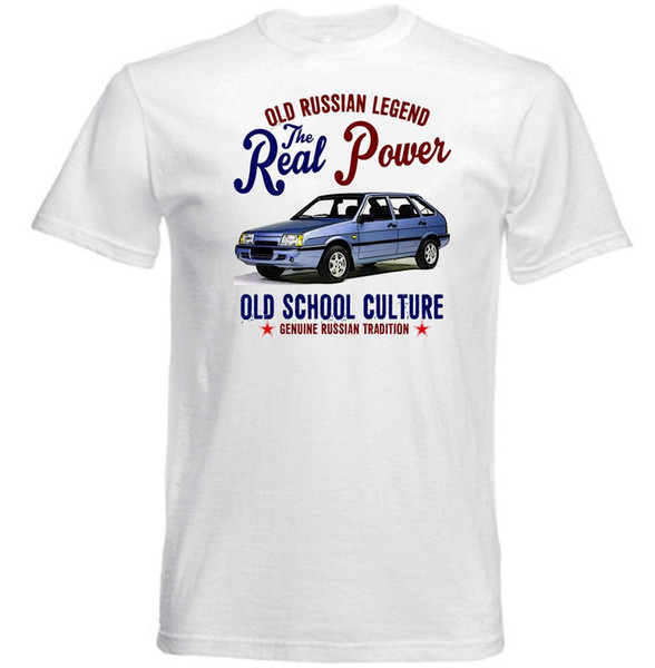 VINTAGE RUSSIAN CAR LADA SAMARA BALTIC - NEW COTTON T-SHIRT Printing Casual T Shirt Men's Tees Men Summer Style