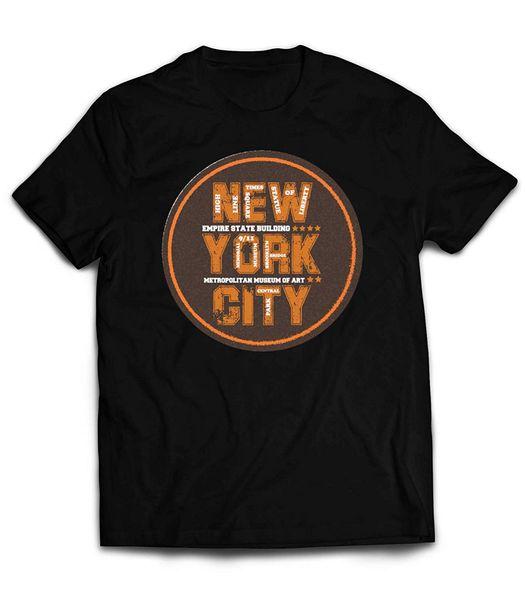 Market Trendz Ciudad de Nueva York Camiseta Ciudad de Nueva York Camiseta negra Museo de arte Central Park Square Estatua de la Libertad