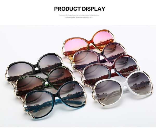 High quality brand designer female models retro style UV380 Defence Ultraviolet Rays Sun Glasses Fashion Sunglasses Unisex