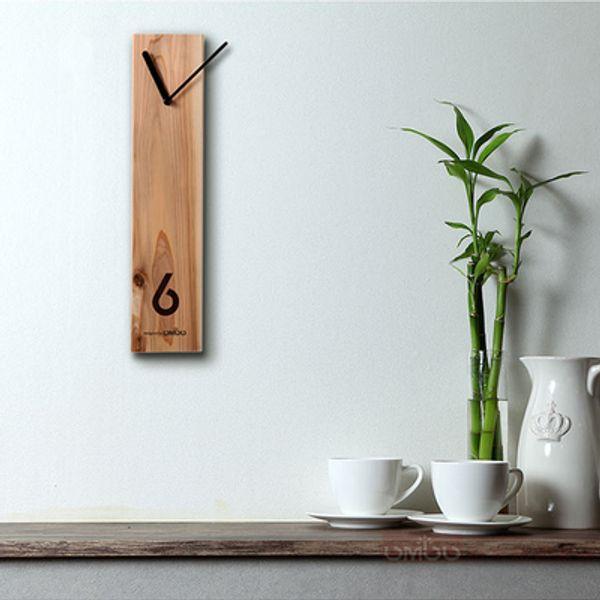 Wood clock Creative wooden clock Log Silent design Living room wall Office meeting table