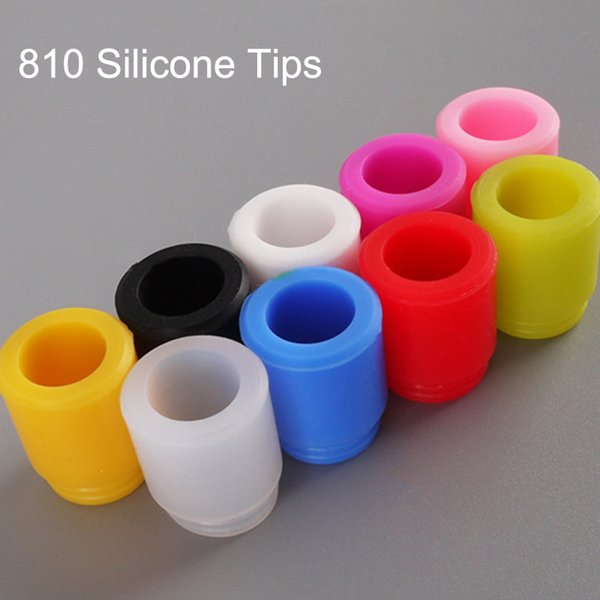 810 Test Drip Tips Disposable Silicone Rubber Tester Mouthpiece Such Tip Wire Bore For TFV12 TFV8 X Big Baby Prince Tank Crown RTA