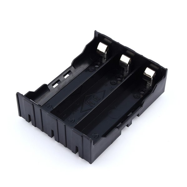 top popular 18650 Battery Holder Case DIY Lithium Battery Box Battery Holder with Pin for 3 * 18650 (3.7-11.1V) Free Shipping 2021