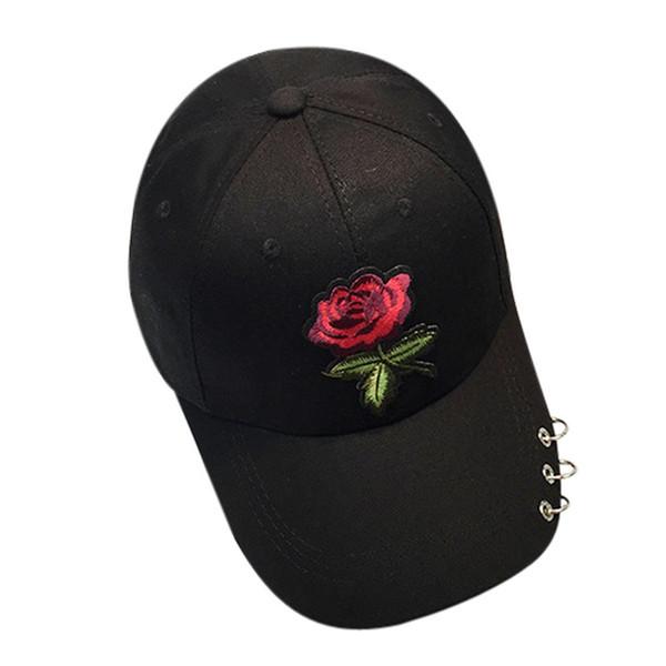 party hat Women Men Couple Sunshade Rose Floral Baseball Cap Unisex Snapback Hip Hop Flat Hat Adjustable F20