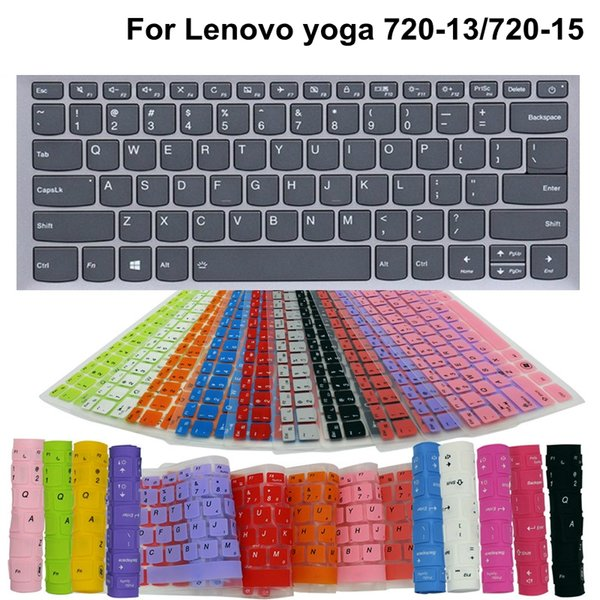 2 Pieces Washable Laptop Keyboard Cover For Lenovo yoga 720-13/720-15 13.3/15.6 Inch Silicone Waterproof Dustproof Cover Film