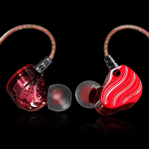 Earphone In-Ear Double moving ring headset four unit in-ear with wheat earphones HIFI mobile phone headset