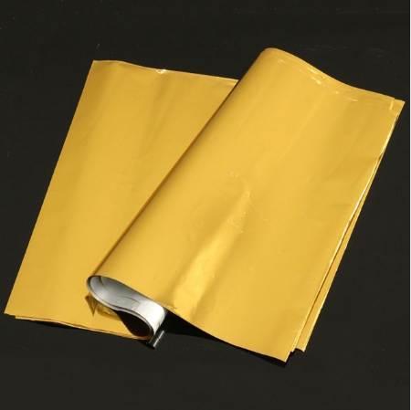best selling Kicute 50 Sheets A4 Gold Hot Stamping Foil Paper Laminator Laminating Transfer Laser Printer Business Card Calendar 295 x 195mm