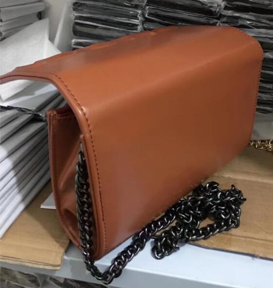 Free Shipping 2018 New Vogue Style Women's Patent leather Handbags Shoulder Bag Black Chain Bag Purse 6 Colors