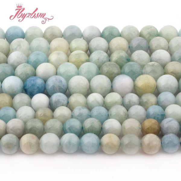 8mm 10mm perline rotonde multicolor acquamarina perline in pietra naturale per collana braccialetto gioielli fai da te fai da te allentato 15