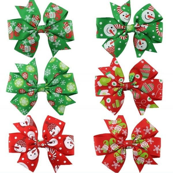 Christmas Hair Clips.2019 Christmas Hair Bow Clips Swallowtail Bows Baby Girl Kids Hair Clips Boutique Bow Clips For Women Hair Accessories From Fashion Show2018 0 34
