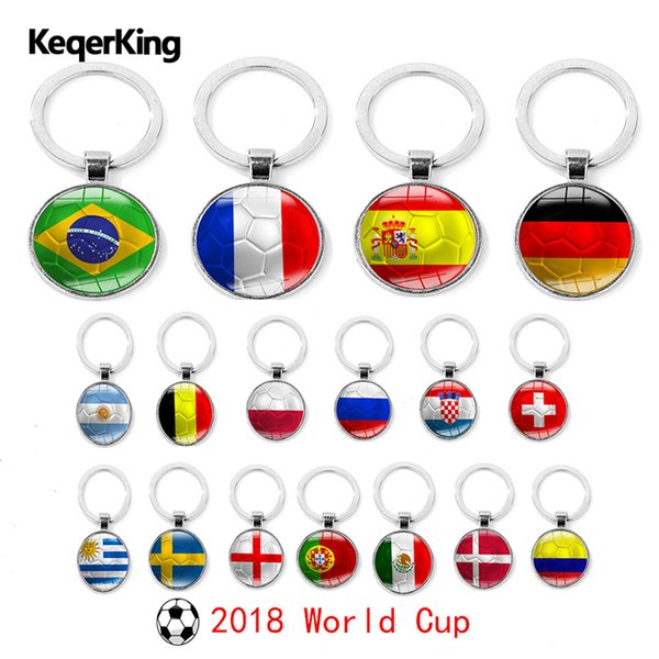Bijoux de mode pour les garçons Clubs de Football Fans Porte-clés Porte-clés Souvenir Sac Pendentif Accessoires Cadeaux