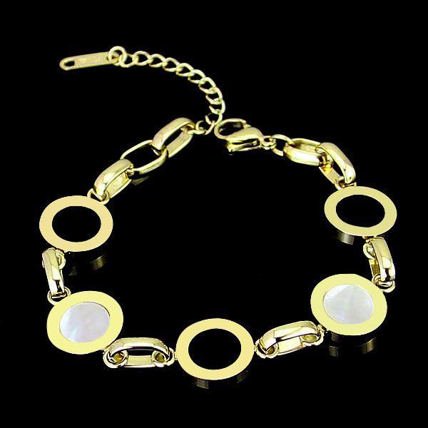 Luxury Roman numerals Black white shell bracelet for women Stainless Steel Silver Rose gold BV lettering designer charm bracelet Brand named