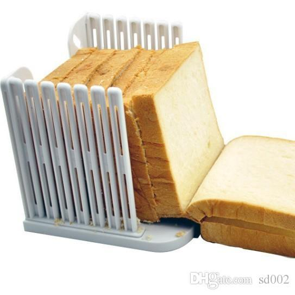 Cake Cutter Plastic Folding Bread Slicer Device For Toast Delamination White Baking Eco Friendly Kitchen Tool Non Toxic 4 5tt ZZ