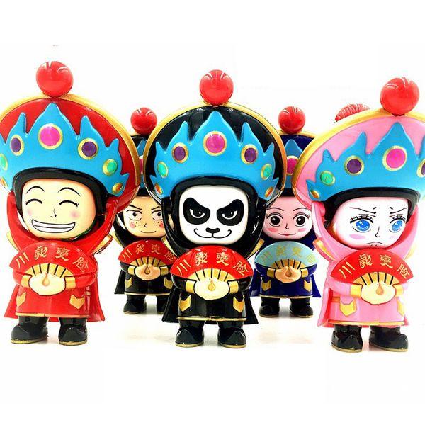 10cm chinesische traditionelle Spielwaren-Kultur, die in Sichuan-Opern-Puppen-Änderungs-Gesicht / Gesicht weg von traditionellem China-Kinderspielzeug Face-Changing ist