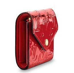 M62429 VICTORINE WALLET Patent leather red Real Caviar Lambskin Chain Flap Bag LONG CHAIN WALLETS KEY CARD HOLDERS PURSE CLUTCHES EVENING