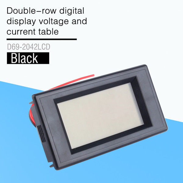 Double-Row Digital Dispay Voltage and Current Table of AC 300V 100A Blue Lcd Dual Panel Volt Amp Combo Meter+CT 110v 220v 240v