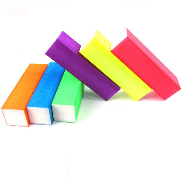 4 Pcs/lot Nail File Fluorescent Color Buffing Sanding Buffer Block Files Manicure Nail Art Tips Women Beauty Manicure Tools