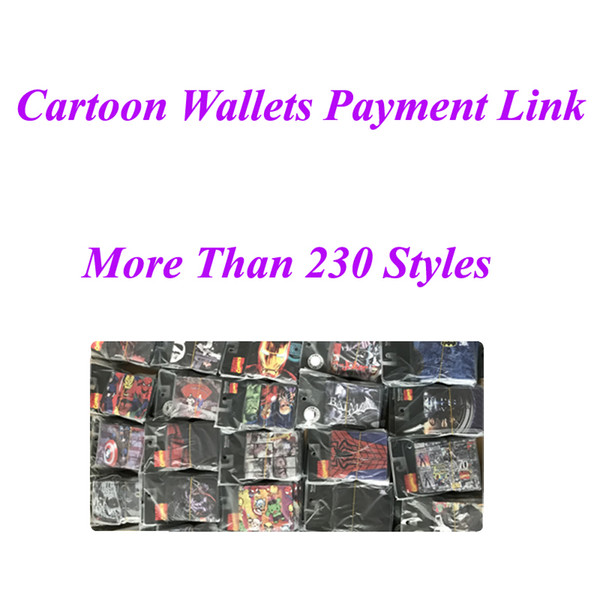 top popular Cartoon Wallets Payment Link Multi Styles Cartoon Print And PVC wallets Cartoon Kids Gift Free Shipping DHL 2019
