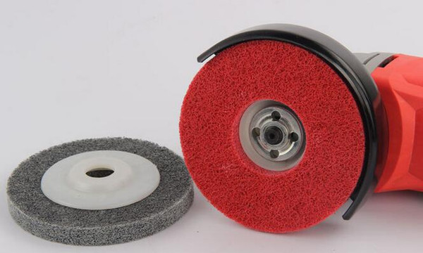 best selling 100PCS High Quality 100*16mm Grinding Machine Non-woven Flap Disc Angle Grinder Tool Fibre Polishing Pad for Car Auto Polishing and Waxing
