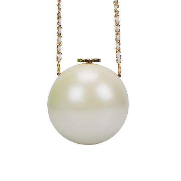 Yesello Pearl Ball Shaped Evening Bag Ladies Handbag Women Round Shoulder Wedding Bags Y18103004