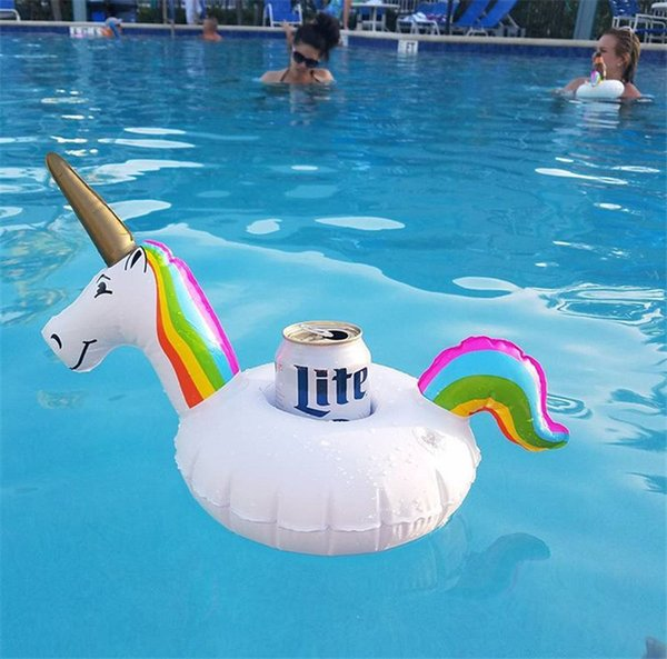 2018 Hot Inflatable Cup Holder Drink Floating Party Beverage Boats Phone Stand Holder Pool Toys Party Supplies